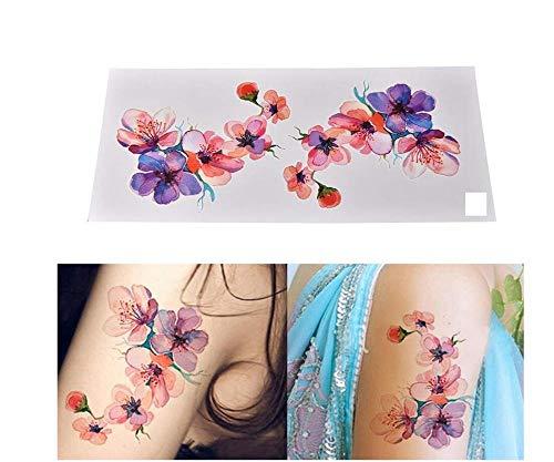 Acqua trasferimento temporaneo adesivi tatuaggio falso impermeabile realistico acquerello orchidea flash spalla braccio donna ragazza body art accessori 9x19cm4pc