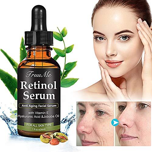 SieroViso, Retinolo, SieroAntimacchieViso, Siero Anti-Rughe, Siero Anti-Invecchiamento con retinolo 2,5%, acido ialuronico e vitamina E - per rughe, linee sottili e idratazione della pelle (30 ml)