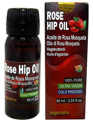 Puro Olio di Rosa Mosqueta Patagonia 60 ml extra vergine Prodotto in Patagonia, Imballaggi e Certificato in Europa, puro al 100%