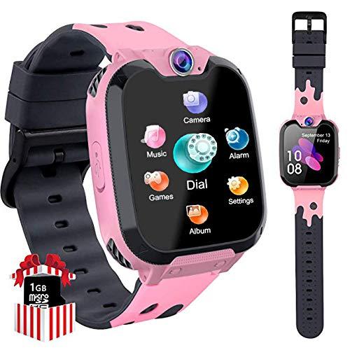 Orologio Smart Phone da Gioco per Studenti Bambino, Ragazzi e Ragazze Orologio Touch Screen ad Alta Definizione da 1,5 Pollici Circa Sveglia per Lettore MP3 per Bambini da 3-12 anni regalo(Rosa X9)