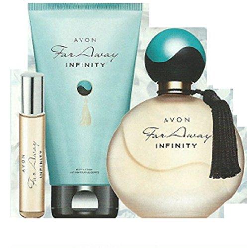 Far Away Infinity EDP, spray da borsa e lozione per il corpo – by Avon