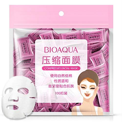 Maschera Facciale Compressa,100Pcs / Pack Cura Della Pelle Naturale Maschera Facciale Compressa Non Tessuta In Seta Maschera Facciale Fai Da Te