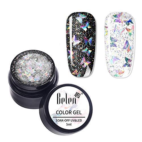 Belen Smalto Semipermante per Unghie in Gel UV LED,Laser Luccichio Smalti per Unghie Soak Off Manicure e Pedicure 5ML 05
