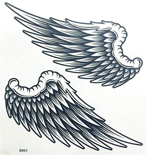 Tatuaggi Temporanei Autoadesivi Provvisori Impermeabili del Tatuaggio del Body Art della Gamba del Braccio delle Ali di Angelo Compongono I Tatuaggi Temporanei-B003