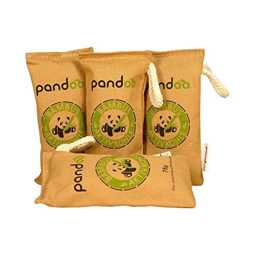 deodorante naturale a base di carbone attivo di bambù | 100% biodegradabile | 2 anni utilizzabili | senza chimica | assorbe gli odori e l'umidità| 4 x 75g