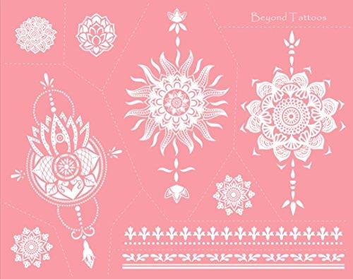 Mes06 Mandala, mascherine per tatuaggi in microrete, per tatuare facilmente il corpo, riutilizzabili