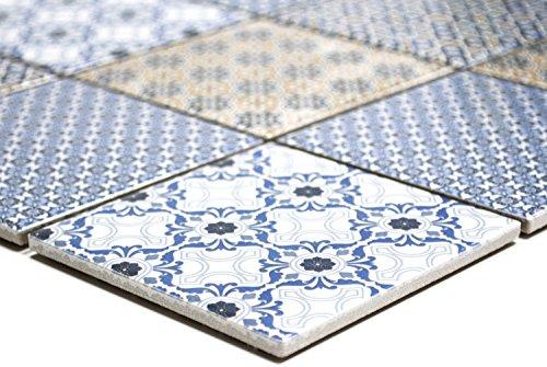 Mosaik-Netzwerk, piastrelle a mosaico, mix classico quadrato, in ceramica, per specchio e piatto doccia