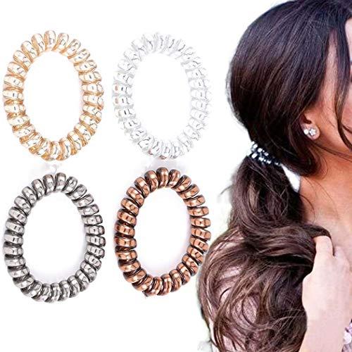 Awanka - Set di elastici per capelli a spirale, per donne e ragazze, 8 pezzi