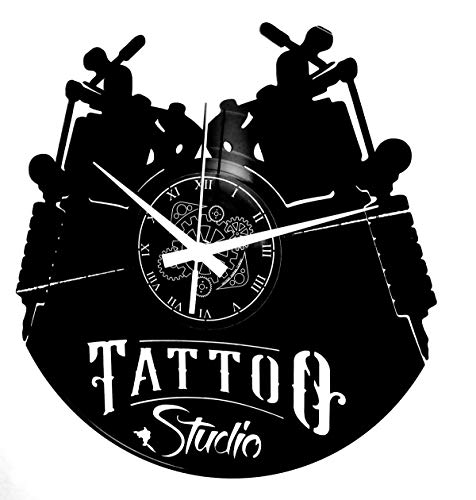 Instant Karma Clocks Orologio da Parete Tatuaggio Tribale Negozio Studio Tattoo, Donna, Uomo