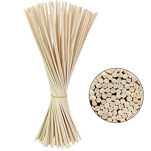 BUZIFU 100 Pezzi Bastoncini di Diffusore di Olio per Profumo Fragranza Bastoni di Ricambio per Diffusore Rattan Reed Diffusore Bastoncini di Ricambio, Colore Naturale (30cm*3mm)