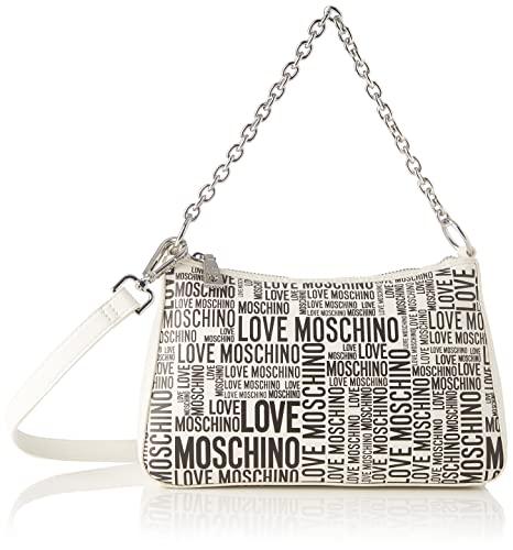 Love Moschino, Borsetta da Donna, Pre Collezione Autunno Inverno 2021, Bianco, U