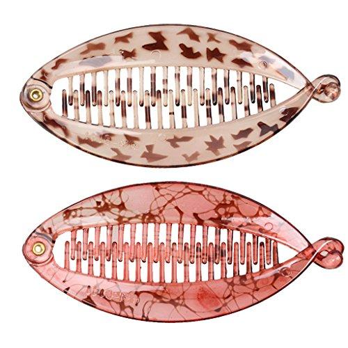 Clip per Capelli in Resina Disegno Pesca Accessorio per Uso Quotidiano - Grigio, Rosso Chiaro