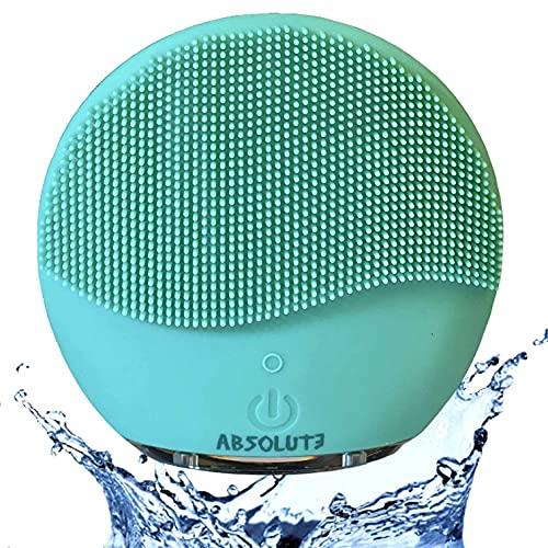Spazzola Pulizia Viso Silicone . Detergente viso, Double Face, Massaggiatore Viso Elettrico Esfoliante, Impermeabile IPX7, Ricaricabile con USB, Scrub del Viso Anti Età