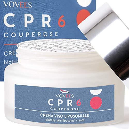 VOVEES CPR6 Crema Viso Couperose Rosacea con 6 Principi Attivi Naturali Bio per Giorno e Notte 50ml