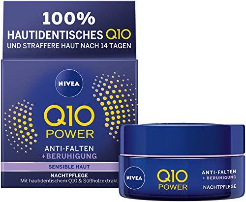 Nivea Q10 Power - Crema notte anti-rughe + ridotta sensibilità, per pelle dall'aspetto più giovane, crema notte idratante, (50 ml)