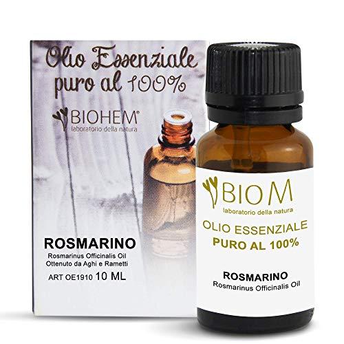 BiomIntegra Olio Essenziale Rosmarino | Olio Essenziale per Diffusori, ottimo Olio per Capelli e Olio per Massaggi Rilassanti | Olio di Rosmarino Made in Italy - 10ml - 100% PURO