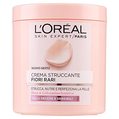 L'Oréal Paris Fiori Rari Crema Struccante Viso e Occhi per Pelli Secche e Sensibili - 200 ml