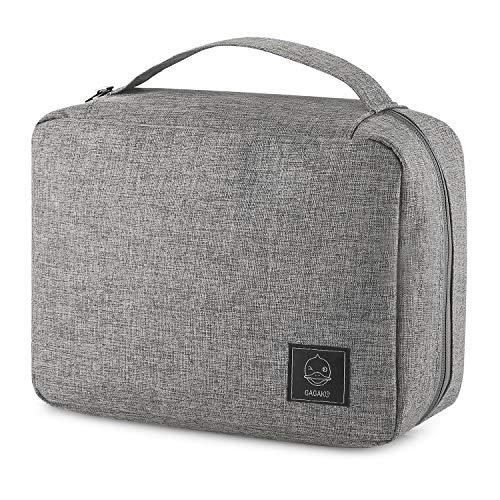 GAGAKU Borsa da Toilette Impermeabile da Appendere Borsa Cosmetica Grande per Uomo e Donna Toiletry Bag Hanging Cosmetic Pouch - Grigio