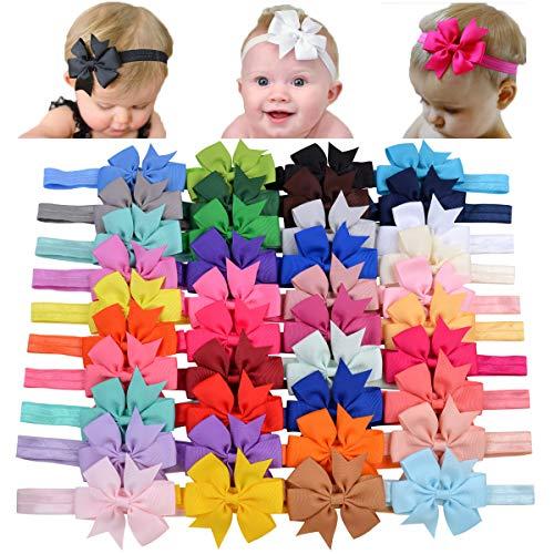 choicbaby 40pcs neonate grosgrain nastro fiocchi per capelli fasce per capelli 3'accessori per capelli fascia per capelli per neonati bambino neonato