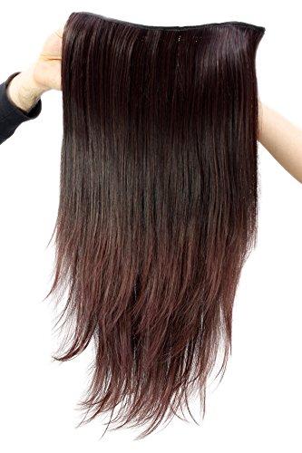 Wig Me Up - Toupet- 7 Clip, Metà Parrucca Mora H9505-2T33 Extensions Posticcio