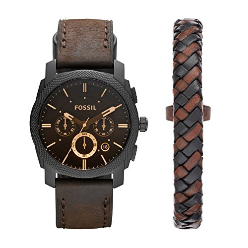 Orologio da uomo FOSSIL, cassa 42 mm, movimento cronografo al quarzo, cinturino in vera pelle