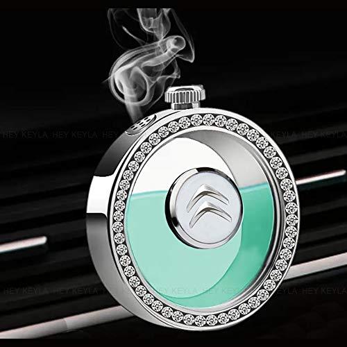 HEY KEYLA Bottiglia di Profumo per Auto Emblema Cristallo Deodorante Presa d'Aria dell'auto Profumo per Auto Rimuovi l'odore dell'auto, per Citro-en