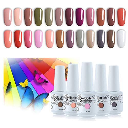 Vishine - Set da 24 smalti gel semipermanenti, smalto gel UV LED, Soak Off, kit manicure per nail art, unghie ideale come regalo di Natale, 8 ml