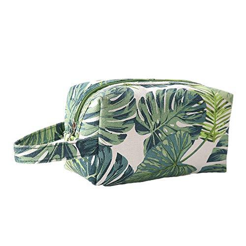 Beauty Case da Viaggio Borsa per Toilette Uomo Donna per Valigie Bagaglio make up Borsa Cosmetica Unisex Toiletry Bag Borsa da Viaggio per Lavaggio,foglie verdi