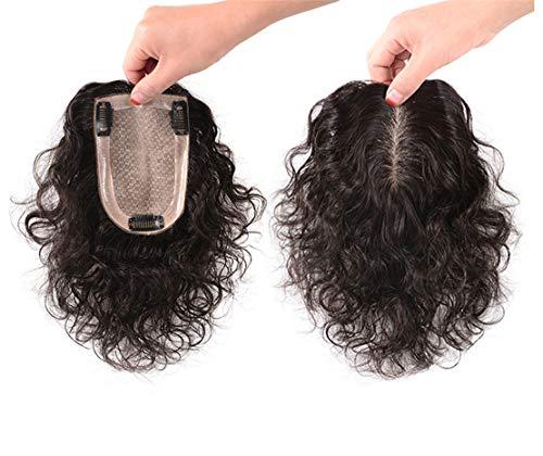 Top in seta con chiusura a clip, 8,9 x 14 cm, per capelli ricci, per diradamento dei capelli, 40,6 cm, marrone scuro