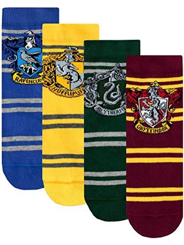 HARRY POTTER Calzini Confezione da 4 per Bambini Hogwarts Multicolore 31/36