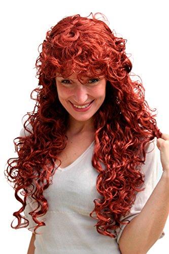 Parrucca Colore Rosso, Lunga Riccia, 9229-350. Lunghezza: circa 65 cm