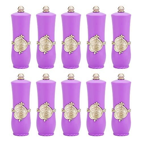 Contenitori per bastoncini - Contenitori per rossetto Real Style Rossetto fai da te Contenitore vuoto Stampi per rossetto fatti in casa Tubi per balsamo per labbra (Edizione : #4 Purple 10PCS)