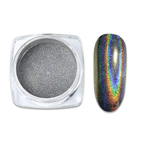 MEILINDS 0.5g 1 bottiglia laser olografica arcobaleno magico effetto specchio nail art pigmenti glitter polvere manicure trucco fai da te Chrom