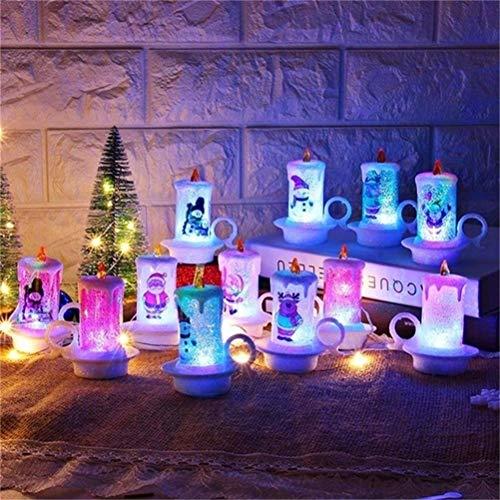 Urisgo Candele Senza Fiamma LED Calda Decorazione di Casa Camera Natale Partito Matrimoni Compleanno Festival 1 Pezzi