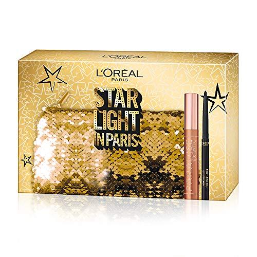 L'Oréal Paris MakeUp Cofanetto Idea Regalo Donna Occhi, Mascara Volumizzante Paradise, Eyeliner Super Mat-Matic, Nero
