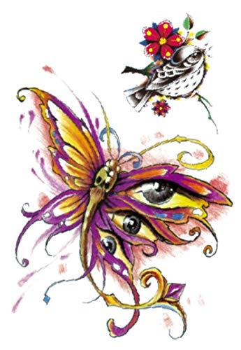 Farfalla Libellula Uccellino Tatuaggi Temporanei Impermeabili Adesivi Body Art Falsi Trasferimento Per Spalle Torace Gambe Posteriori Festival Art 21X15Cm 5 Pcs