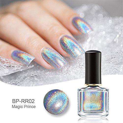 Smalti per Unghie 6ml, Smalto per unghie Glitter Super Shine Rainbow Smalto per Unghie
