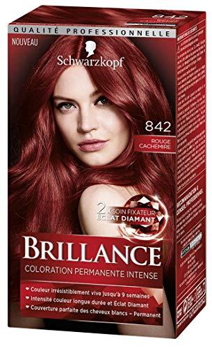 Schwarzkopf Brillance–colorazione permanente–Rosso Kashmir 842