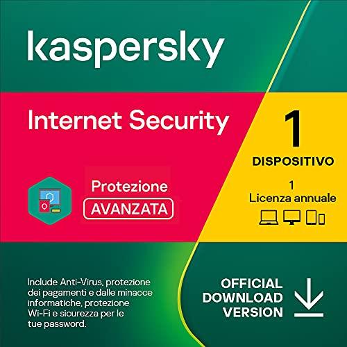 Kaspersky Internet Security 2021 | 1 Dispositivo | 1 Anno | PC / Mac / Android | Codice d'attivazione via email