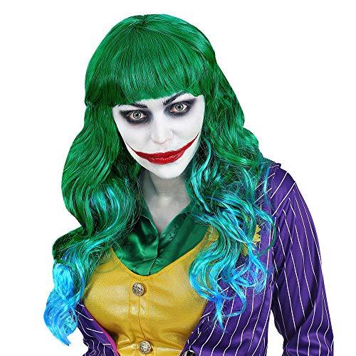WIDMANN SRL Parrucca Evil Joker Verde da Donna Adulti, WDM02077