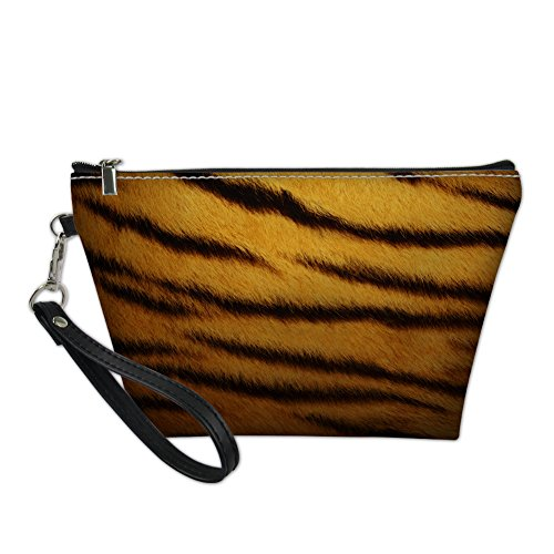 HUGS IDEA, Beauty Case da viaggio Marrone Tiger small