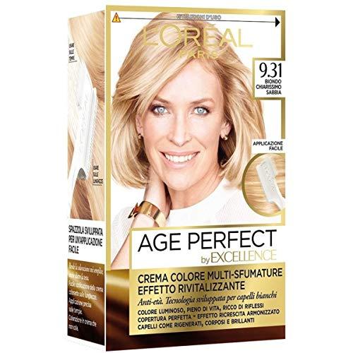 L'Oréal Paris Tinta Capelli Excellence Age Perfect, Tinta Capelli Effetto Rivitalizzante, 9.31 Biondo Chiarissimo Sabbia