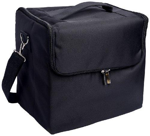 Glow alla moda, pratico, di alta qualità Caso Trucco/ Beauty Case/ Beauty Case da viaggio/ Organizer per cosmetici; Nero