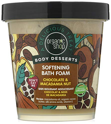 Organic Shop Chocolate and Macadamia Nut Softening Bath Foam - 450 ml