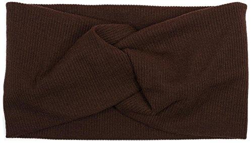 styleBREAKER fascia per capelli a coste sottili con nodo, fascia per capelli, da donna 04026009, colore:Marrone scuro