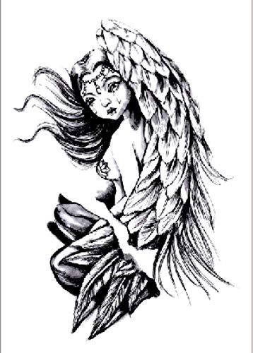 Bellissime Ali D'Angelo Adesivo Per Tatuaggi Temporanei Per Uomo Adulto Donna Bambini Impermeabile Finto Body Art Cover Up Set Anchor Graphic 21X15Cm 5 Pcs