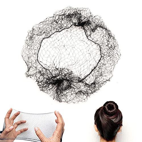TouGod 40 Retine per capelli invisibili con bordo elastico per fissare parrucche capelli e chignon