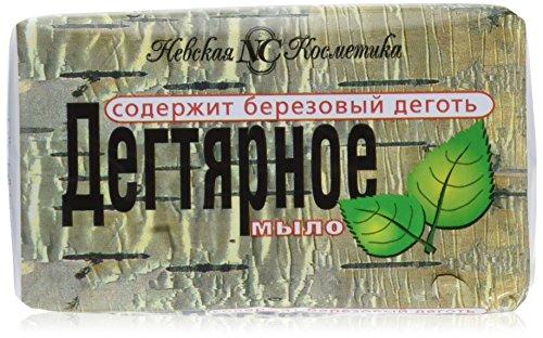 Saponetta alla Pece di Betulla dalla Russia contro le Malattie della Pelle, le Dermatiti, la Seborrea e l'Acne (Pacco da 3)