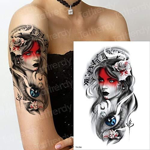 Handaxian 3pcsFlower Braccio Adesivi Tatuaggio Impermeabile Ragazza Body Art Tatuaggio Giapponese Samurai Geisha Tatuaggio