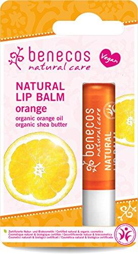 Benecos Natural balsamo per le labbra, arancione, 4.8g